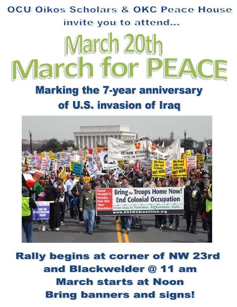 OKC 'Rally for Peace and Life' to mark 7th Anniversary of Iraq invasion